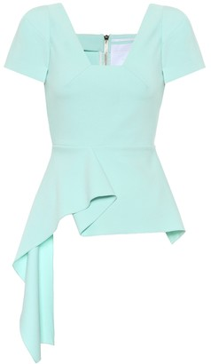 Roland Mouret Exclusive to Mytheresa Irene crepe peplum top