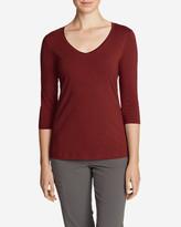 Eddie Bauer Women's Lookout 3/4-Sleeve V-Neck T-Shirt - Solid