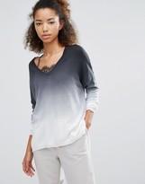 Subtle Luxury Dip Dye V-Neck Sweater