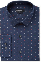 Bar III Men's Slim-Fit Navy Geo-Print Dress Shirt, Only at Macy's