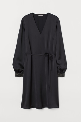 H&M Beaded satin dress