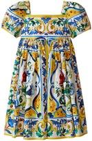 Dolce & Gabbana Escape Maiolica Poplin Dress (Toddler/Little Kids)