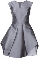 Halston flared metallic dress