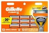 Gillette Fusion® Manual Men's Razor Blade Refills - 12ct