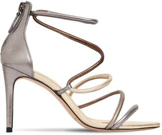 Alexandre Birman 85mm Gianny Metallic Leather Sandals