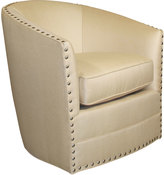 Horchow Bryn St. Clair Gold Swivel Chair
