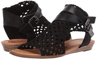 Blowfish Balla D (Black Woven Draped Micro) Women's Sandals