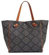 Sole Society Geo Woven Tote - Blue