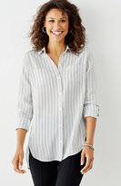 J. Jill Textured Striped Shirt