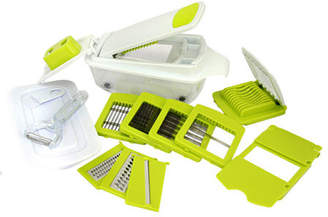 Asstd National Brand MegaChef 8 in 1 Multi-Use Slicer Dicer and Chopper with Interchangeable Blades, Vegetable and Fruit Peeler and Soft Slicer, One Size , Green