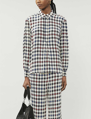 Designers Remix Frigg checked crepe shirt
