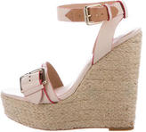 Pour La Victoire Leather Wedge Sandals