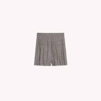 Sandro Short skirt with houndstooth pattern