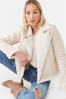 Forever 21 Open-Front Faux Suede Jacket