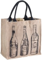 Mud Pie Burlap Bottle Bag