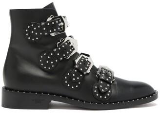 Givenchy Elegant Studded Leather Ankle Boots - Black