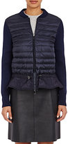 Moncler Women's Maglione Zip-Front Sweater-NAVY