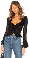 LPA Ruffle Sweater Cardigan