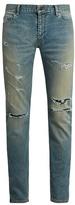 Saint Laurent Distressed Skinny Jeans