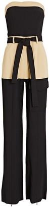 Alexis Perrin Strapless Tie-Waist Jumpsuit