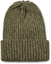 Beams Ribbed Linen and Cotton-Blend Beanie