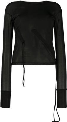 Andrea Ya'aqov Fine-Knit Long-Sleeve Top