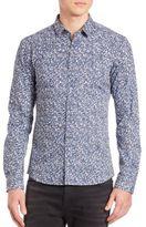 HUGO BOSS Mottled Button-Front Slim-Fit Shirt