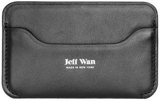 Jeff Wan Leather Card Case Black Port Louis
