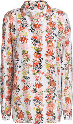 Equipment Essential Floral-print Silk Shirt