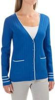 Pendleton Two-Pocket Ribbed Cardigan Sweater - Silk (For Women)