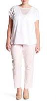 Vince Camuto Flat Front Ankle Pant (Plus Size)