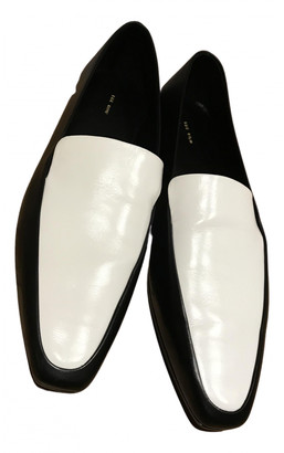 The Row Black Leather Flats
