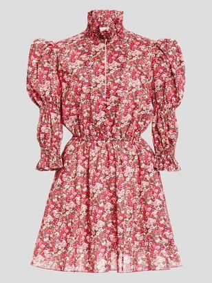 Philosophy di Lorenzo Serafini Puff Sleeve High Collar Mini Dress