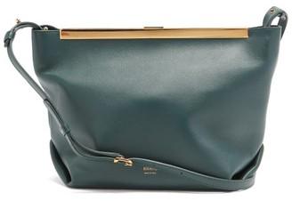 KHAITE Augusta Leather Cross-body Bag - Dark Green