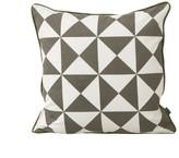 ferm LIVING Large Geometry cushion - mustard yellow - 50X50 cm