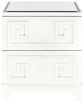 The Well Appointed House Worlds Away Pagoda Nightstand in White