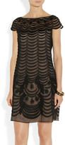 Temperley London Wave embroidered tulle shift dress