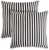 Medford Stripe Square Throw Pillow in Neutral (Set of 2)