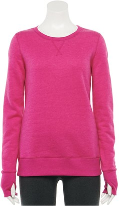 Tek Gear Petite Fleece Crewneck Sweatshirt