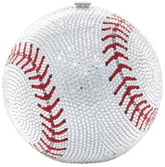 Judith Leiber Baseball Sphere Clutch Bag