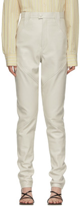 Isabel Marant Off-White Leather Xenia Pants