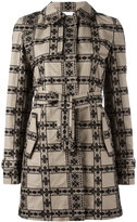 Giamba floral panelled coat - women - Cotton - 42