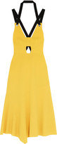 Rebecca Vallance Breakers Grosgrain-trimmed Stretch-crepe Dress - Yellow