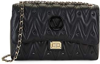 Mario Valentino Valentino By Posh Sauvage Rockstud Leather Shoulder Bag