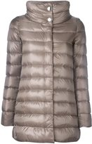 Herno high collar puffer jacket - women - Cotton/Feather Down/Polyamide/Feather - 42