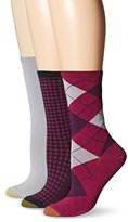 Gold Toe Women's Argyle Fashion/Flat Knit/Gingham Crew Sock