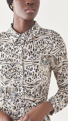 HVN Jane Button Down Shirtdress