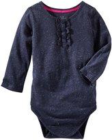 Osh Kosh Knit Bodysuit (Baby) - Navy-12 Months
