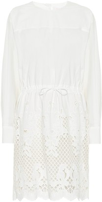 See by Chloe Embroidered cotton minidress