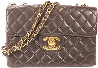 Chanel Black Matelasse Leather Flap Shoulder Bag